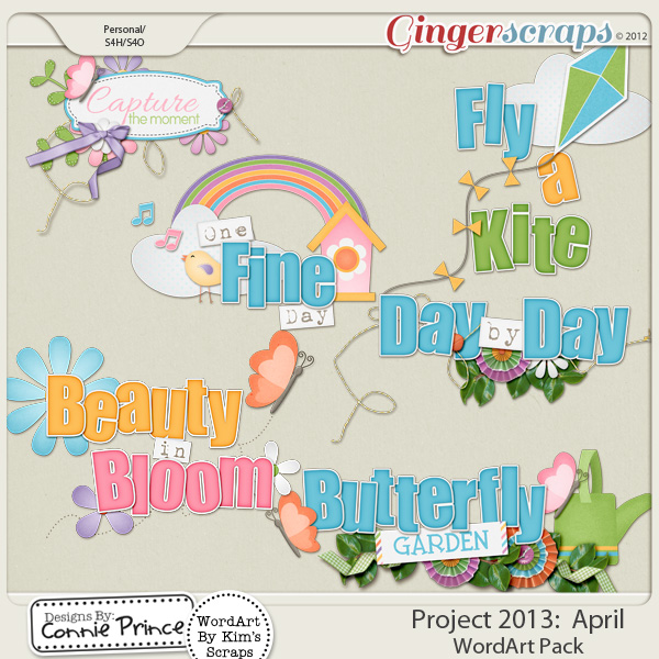 Project 2013: April - WordArt Pack