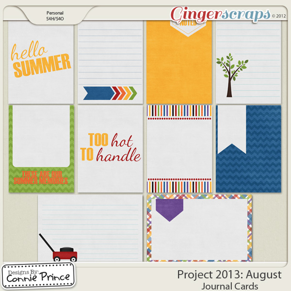 Project 2013: August  - Journal Cards