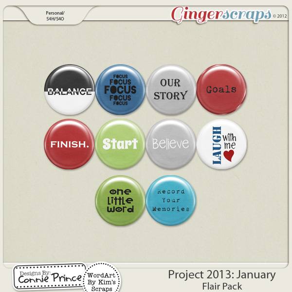 Project 2013: January - Flair Pack