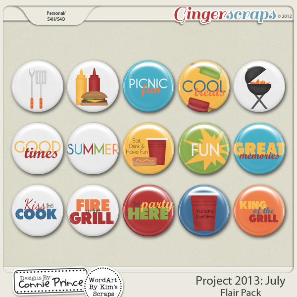 Project 2013:  July - Flair Pack