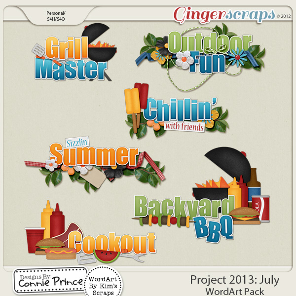Project 2013: July - WordArt Pack