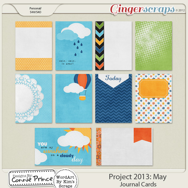 Project 2013: May - Journal Cards