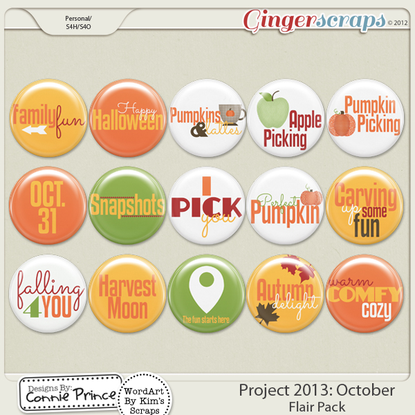 Project 2013:  October - Flair Pack