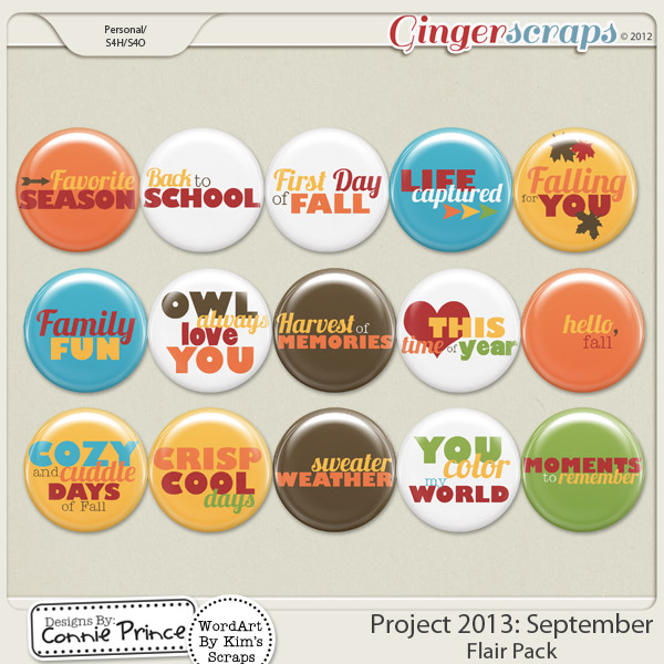 Project 2013:  September - Flair Pack