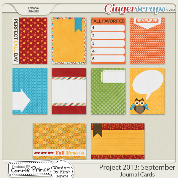 Retiring Soon - Project 2013:  September - Journal Cards