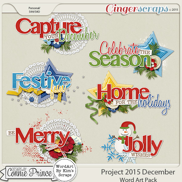 Project 2015 December - WordArt Pack