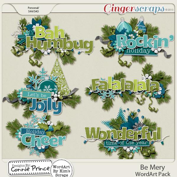 Be Merry - WordArt
