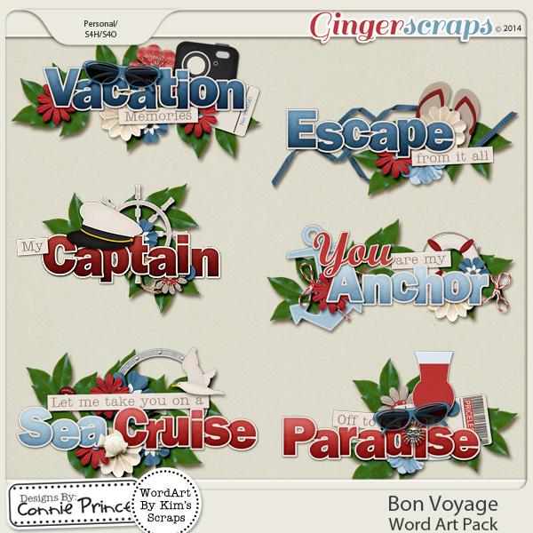 Bon Voyage - Word Art