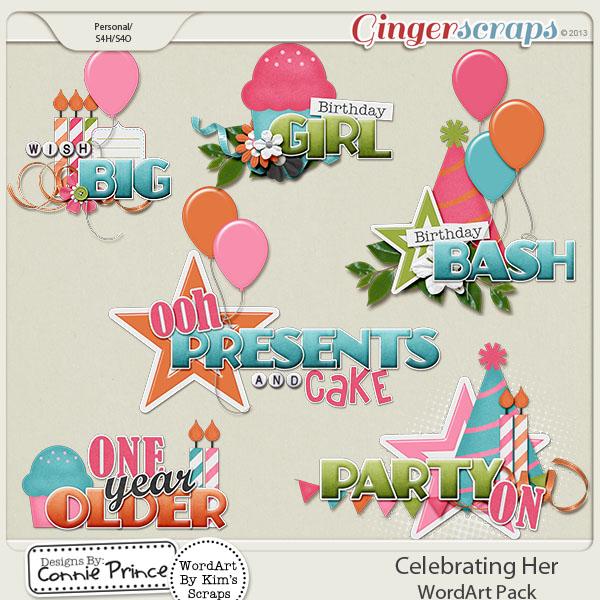 Celebrating Her - WordArt