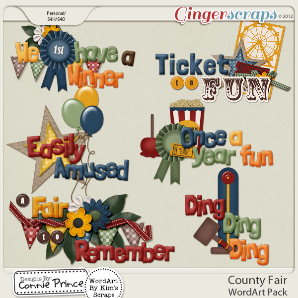 County Fair - WordArt Pack