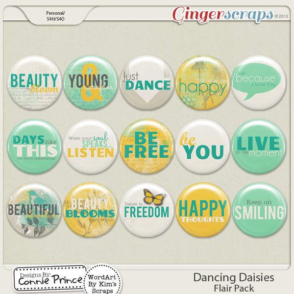 Dancing Daisies - Flair Pack