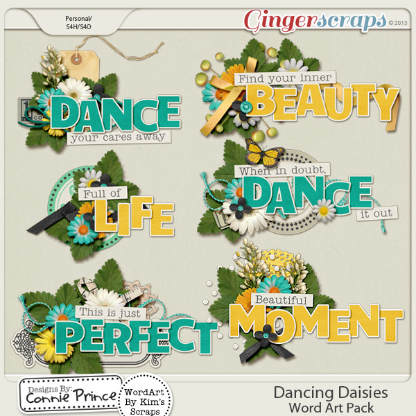 Dancing Daisies - Word Art