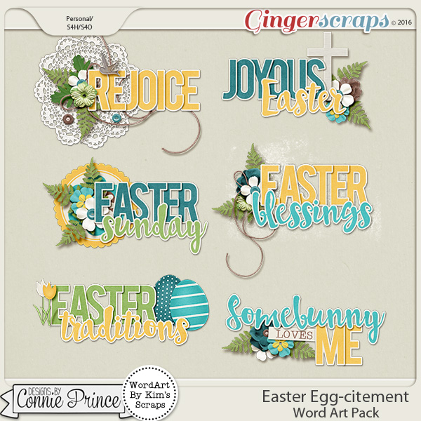 Easter Egg-citement - Word Art
