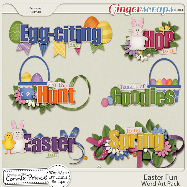 Easter Fun - Word Art