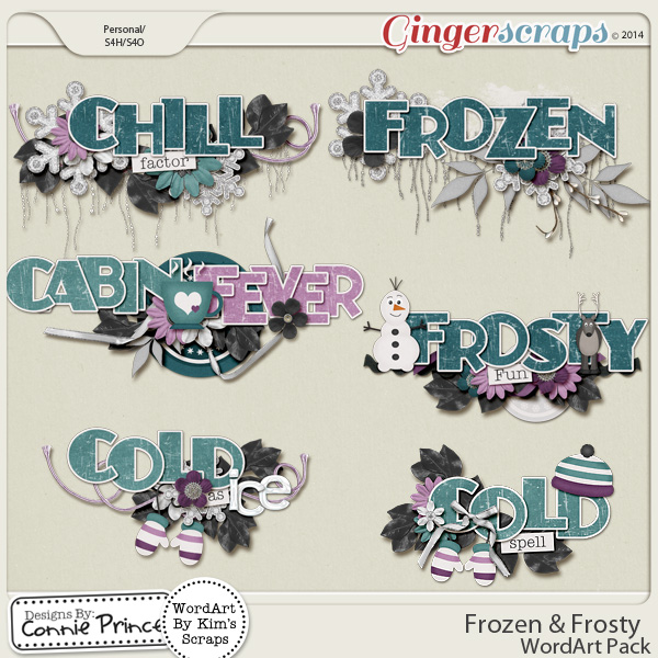 Frozen & Frosty - WordArt