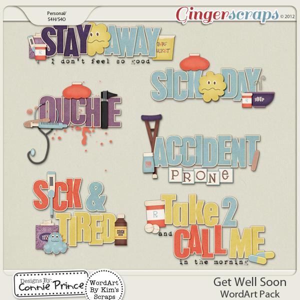 Get Well Soon - WordArt Pack