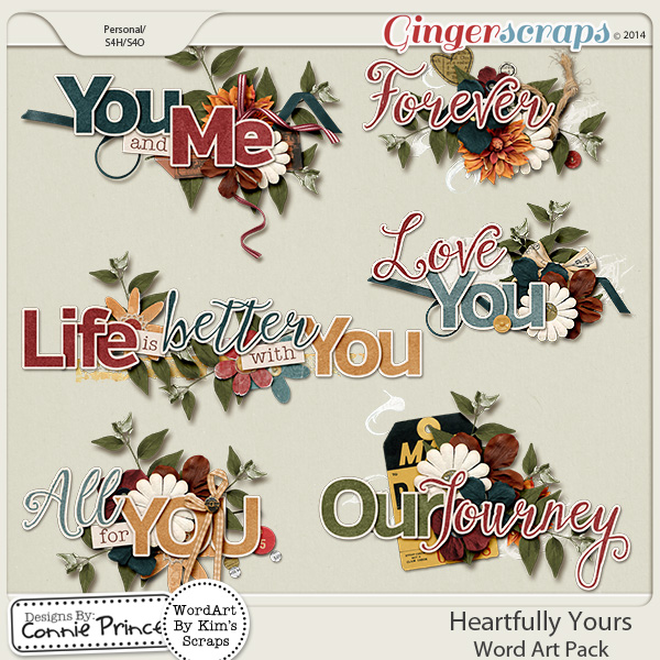 Heartfully Yours - WordArt Pack