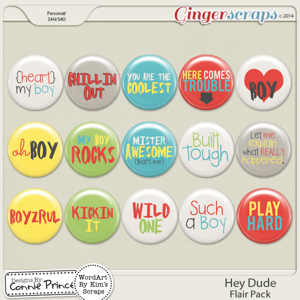 Hey Dude - Flair Pack