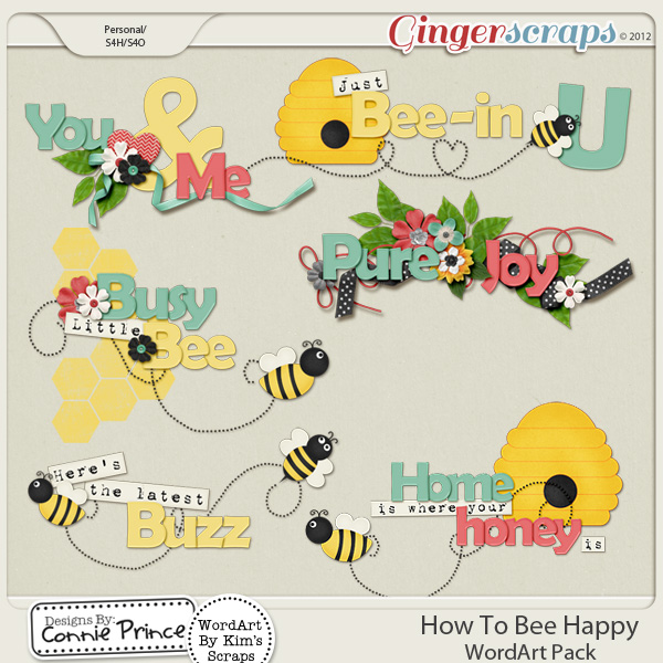 How To Bee Happy - WordArt