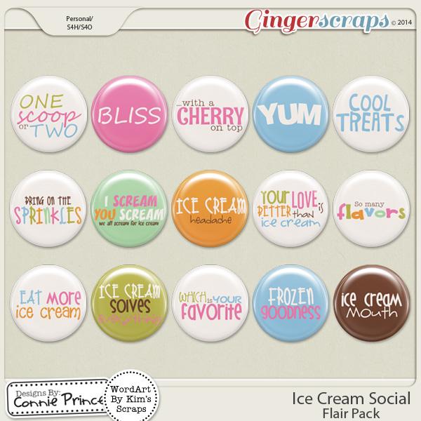 Ice Cream Social - Flair Pack
