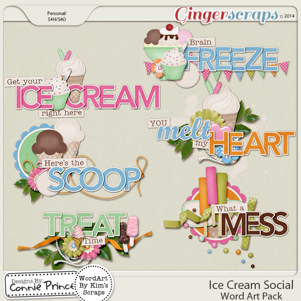 Ice Cream Social - Word Art