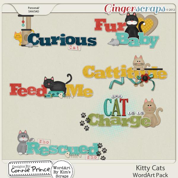 Kitty Cats - WordArt