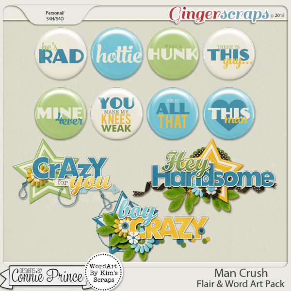 Man Crush - Flair & Word Art Pack