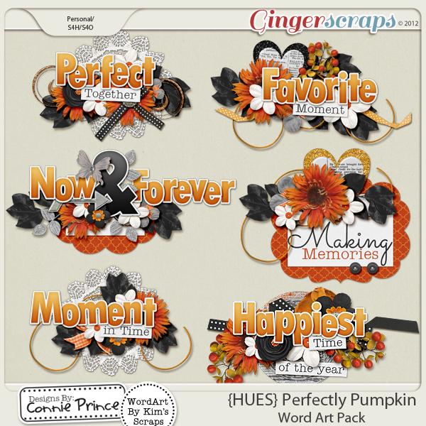 {HUES} Perfectly Pumpkin - WordArt
