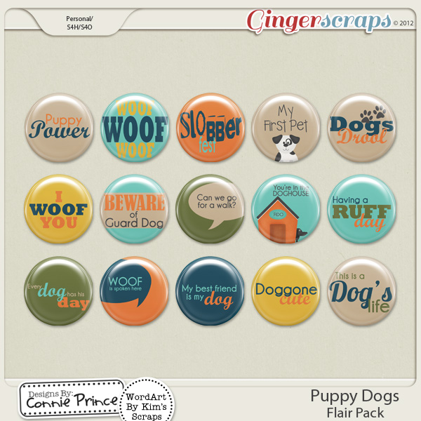 Retiring Soon - Puppy Dogs - Flair Pack