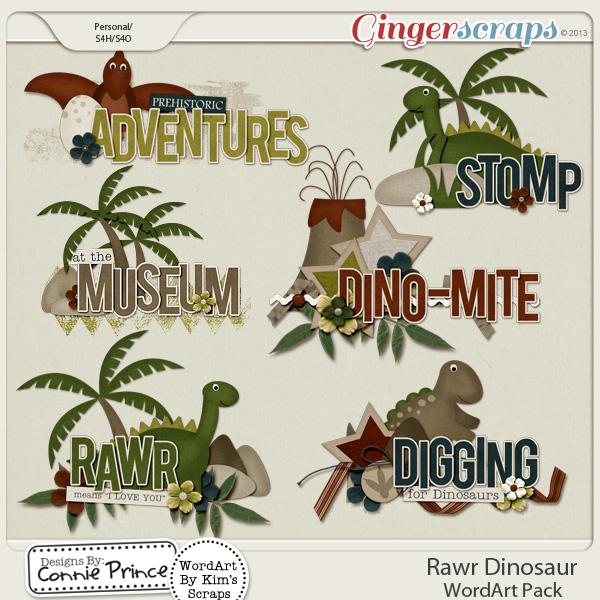 Rawr Dinosaur - WordArt