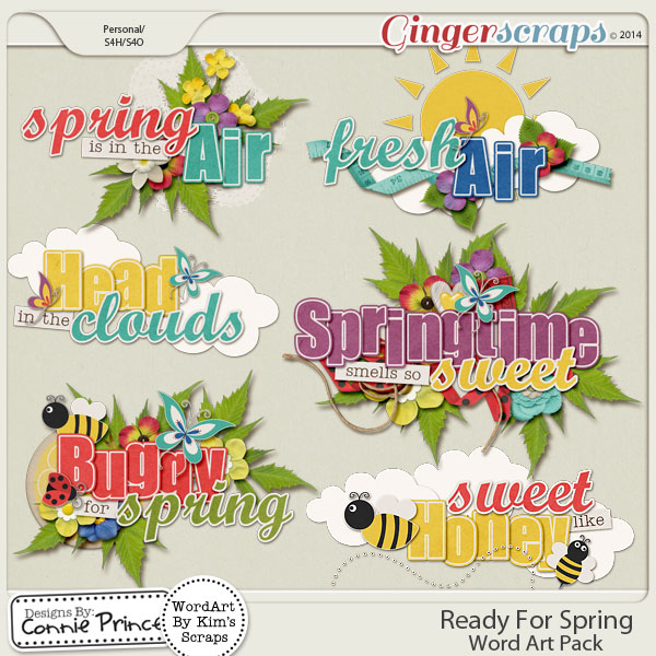 Ready For Spring - Word Art