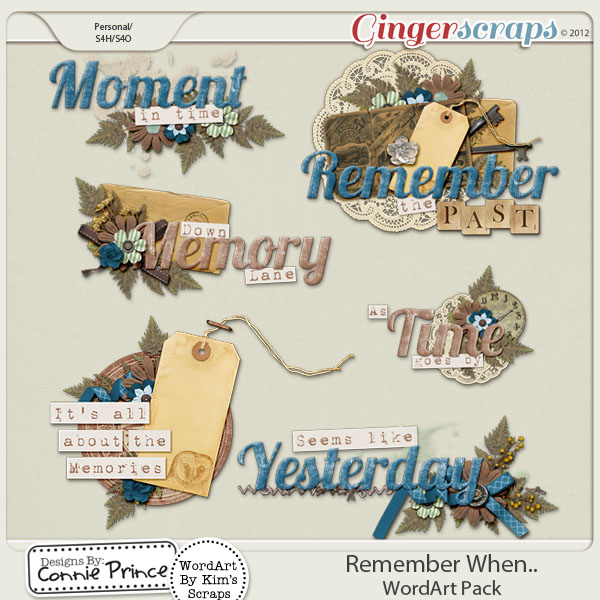 Remember When.. - WordArt Pack