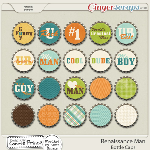 Renaissance Man - Bottle Caps