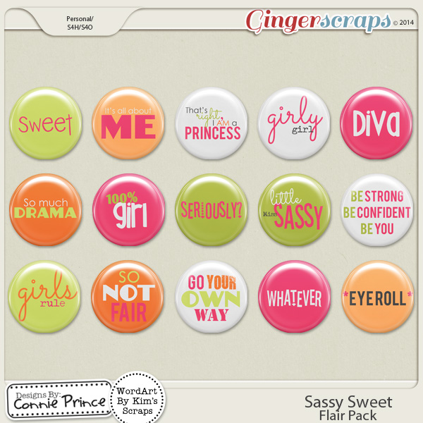 Sassy Sweet - Flair Pack