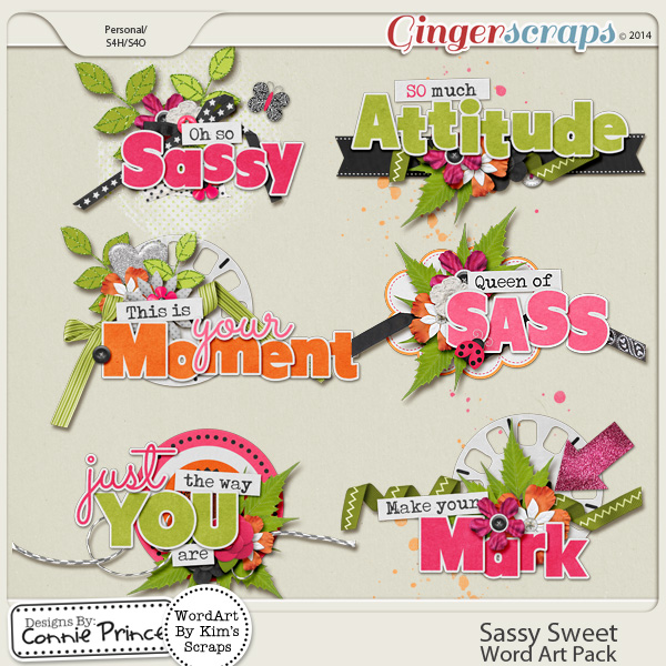 Sassy Sweet - WordArt