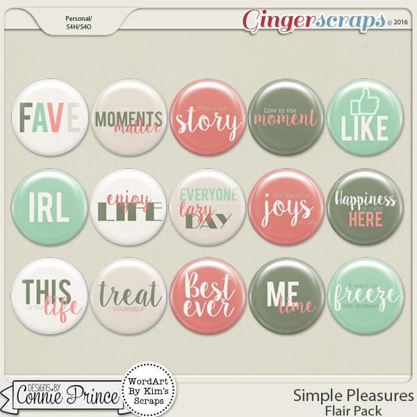 Simple Pleasures - Flair Pack