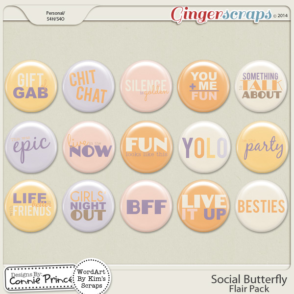 Social Butterfly - Flair Pack