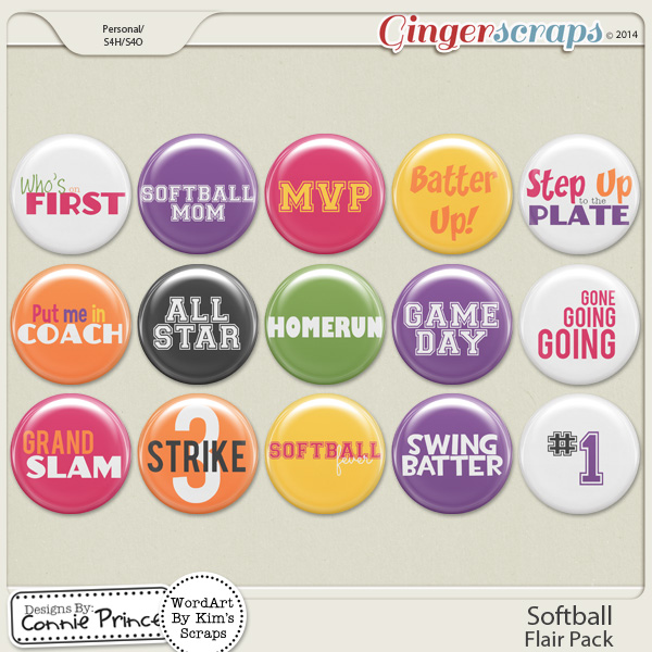 Softball - Flair Pack