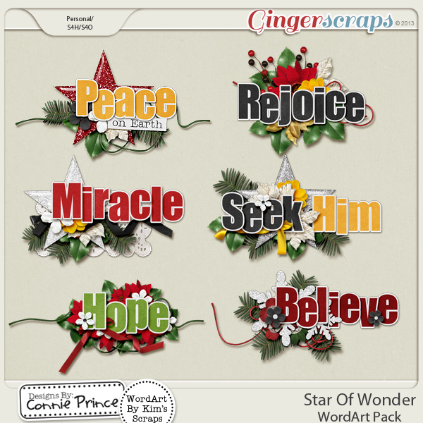 Star Of Wonder - WordArt