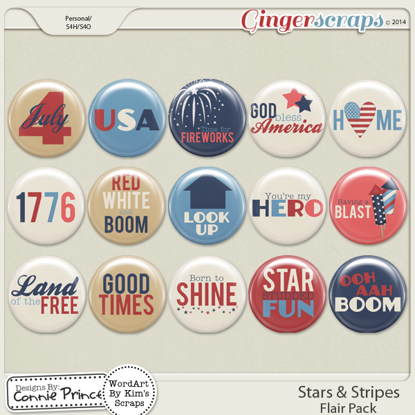 Stars & Stripes - Flair Pack