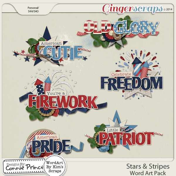Stars & Stripes - Word Art