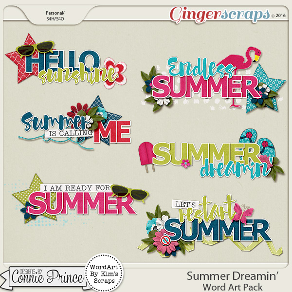 Summer Dreamin' - Word Art