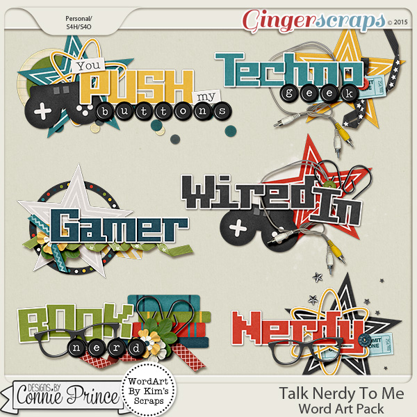 Talk Nerdy To Me - WordArt Pack