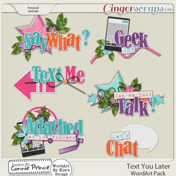 Text You Later  - WordArt