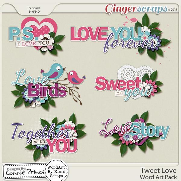 Tweet Love - WordArt Pack