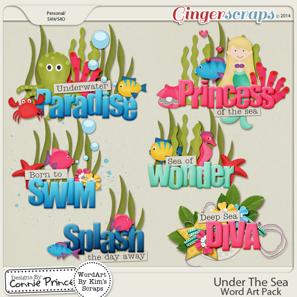 Under The Sea - Word Art