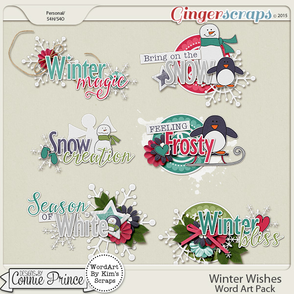 Winter Wishes - Word Art