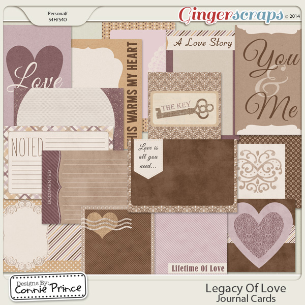 Legacy Of Love - Journal Cards