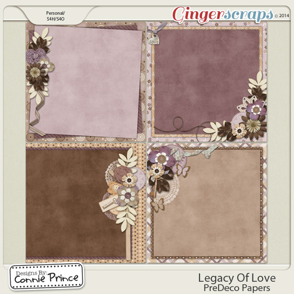 Legacy Of Love - PreDeco Papers
