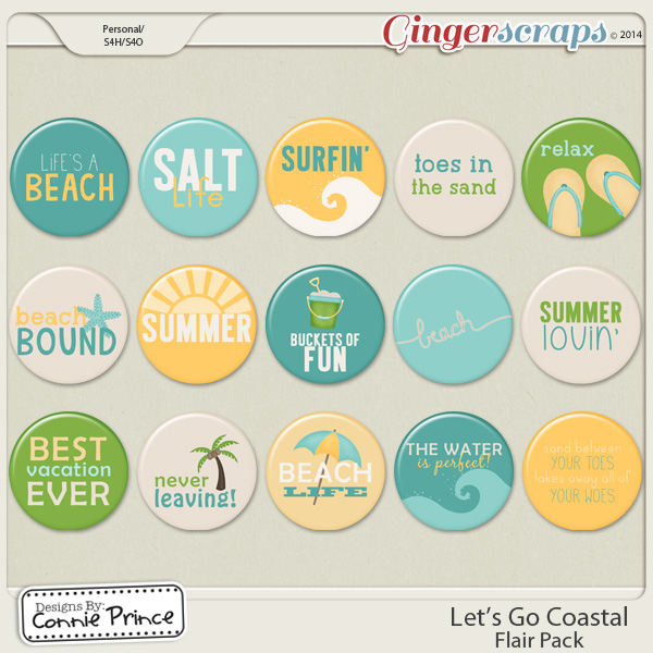 Let's Go Coastal - Flair Pack